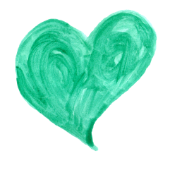 watercolor-heart-green