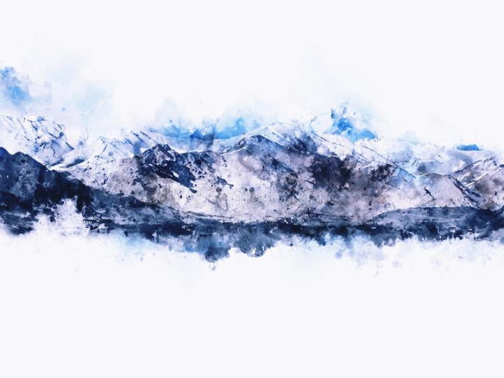 abstract-mountains-landscape-white-background-digital-watercolor-painting-80017966